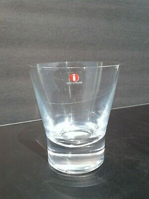 Vintage Iittala Finland Aarne Double Old Fashioned DOF Drinking Glass Tumbler