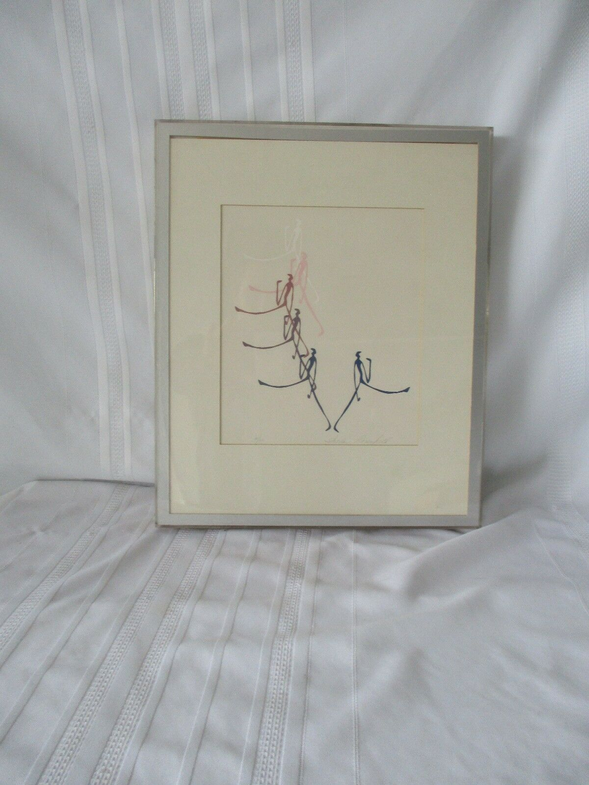 """Dancers"" Framed and Numbered Sheila Rosenfield Print"