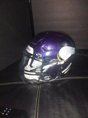 Viking Helmet Football (Minnesota Vikings Custom Authentic NFL SpeedFlex Football Helmet Adam)