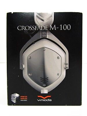 V-MODA Crossfade M-100 Over-Ear Noise-Isolating Metal Headphones White Silver
