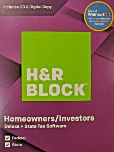 H&R Block Tax Software Deluxe Federal and State for PC, Mac 2019, 2019, 2019