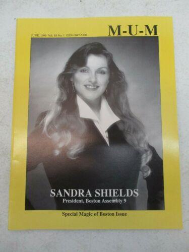 MUM MAGAZINE JUNE 1995 SANDRA SHIELDS BOSTON ISSUE MAGIC UNITY MIGHT MAGICIAN