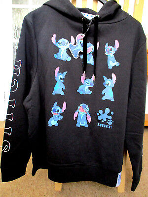 .. LICENSE .DISNEY. STITCH.  HOODY QUALITY BLACK SWEATER..XL  18 - 20
