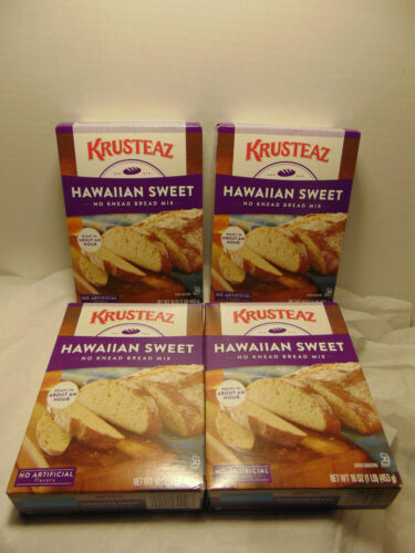 Krusteaz Hawiian Sweet Bread mix 14 OZ / Pack of 4 Boxes Priority ship!