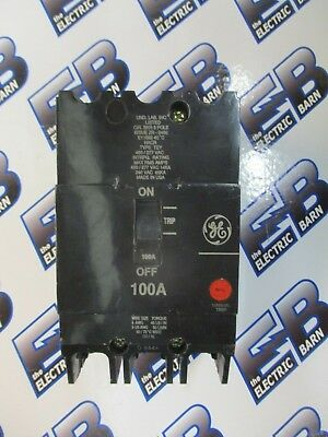 Ge Tey3100 100 Amp 480 Volt 3 Pole Circuit Breaker- Warranty