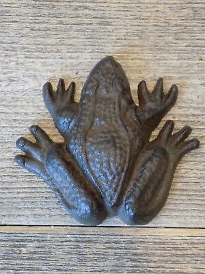 Cast Iron Frog Paper Weight Garden Yard Shelf Decor Figurine 3 1/2