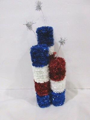 Fourth Of July Centerpieces (Patriotic 4th Of July Firecracker Fireworks Centerpiece Tabletop Decor)