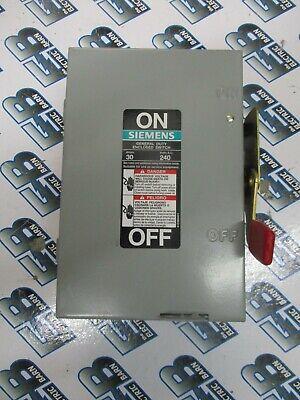 Siemens Gf221n 30 Amp 240 Volt 1p Fusible Disconnect