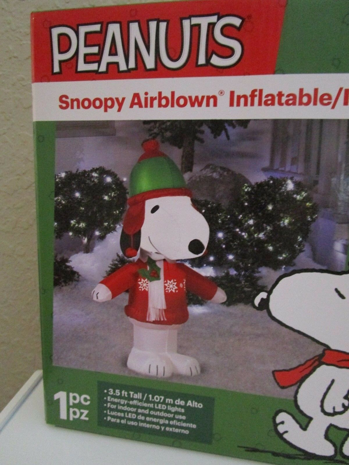 Peanuts Snoopy Christmas Airblown Inflatable 3.5 Ft Tall