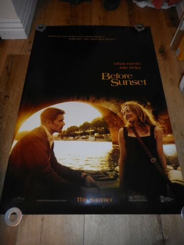 BEFORE SUNSET - ORIGINAL SS ADVANCE ROLLED POSTER - 2004 - HAWKE/DELPY/LINKLATER