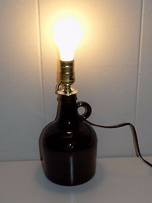 Glass Embossed Apple Bottle Electric Lamp