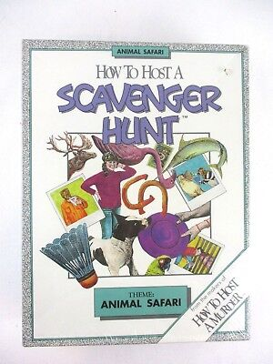 HOW TO HOST A SCAVENGER HUNT Board Game ANIMAL SAFARI Theme NEW IN BOX - Safari Themed Games