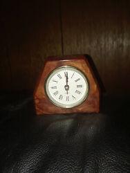 Red Cedar Decorative Mantel Desk Table Clock (Made in USA)