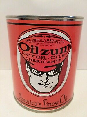 - Antique Oilzum Motor Oil Can 1 qt. -  ( Reproduction Tin Collectible )