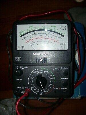 Micronta 22-220 Fet 22 Range Volt Ohm Meter Test Analog Multitester
