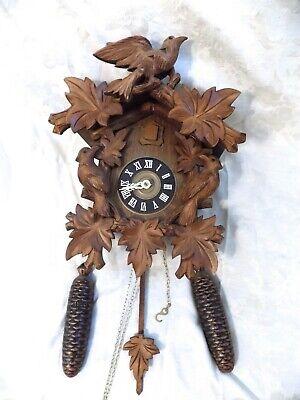 Vintage Regula German Cuckoo Clock Swiss Movement Black Forest Germany 8 Day