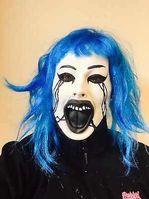 lau Haar Halloween Clown Slipknot Säuberung Maskenkostüm (Puppe Halloween Haar)