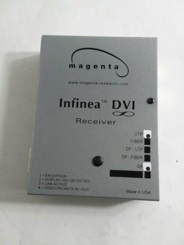 Magenta Research Infinea DVI Video Receiver Extension UTP Extender Made in USA