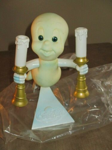 Vintage Casper the Friendly Ghost Candle Candelabra Lamp Halloween Decor1996 NEW