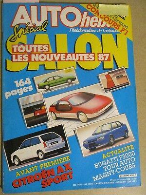AUTO HEBDO: n°542: 01/10/1986: NOUVEAUTES 87 - CITROEN AX - ALFA 33 - UNO 60 D