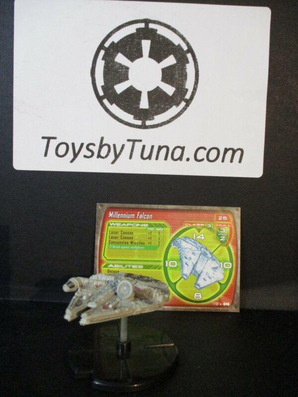 Star Wars Miniatures Starship Battles Millennium Falcon SSB w/ Card mini RPG
