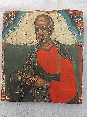 Antique Greek Byzantine Icon Saint Symeon Hand painted!!!