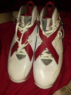 Jordan Retro 8.0s Brand New(never worn) Size 12 Red and White