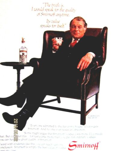 "F.Lee Bailey 1982 Smirnoff Original Print Ad 8.5 x 11"""