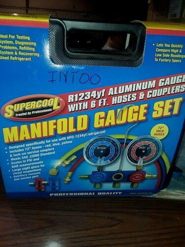 New SUPERCOOL R1234yf Mechanical Manifold Gauge Set,Type Auto, 37520-PC
