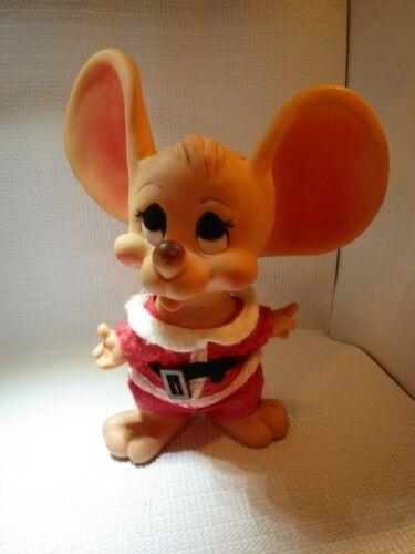 "Huron Products Big Ear Santa Mouse 11"" Bank Christmas Topo Gigio Figure Bank"