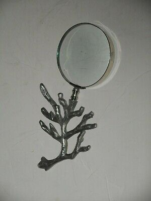 Vintage Magnifying Glass W/ Metal Branch Handle Decorative -