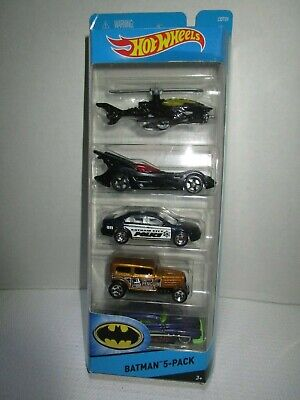 New 2015 DC Comics Hot Wheels City BATMAN 5-Pack Die Cast Package Set # CDT28