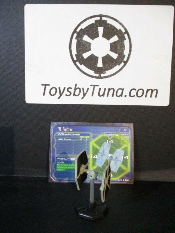 Star Wars Miniatures Starship Battles TIE Fighter SSB w/ Card mini RPG