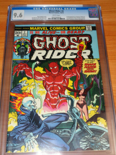GHOST RIDER #2 - CGC 9.6 NM+ (1st Full App. of Daimon Hellstrom ; White Pages)