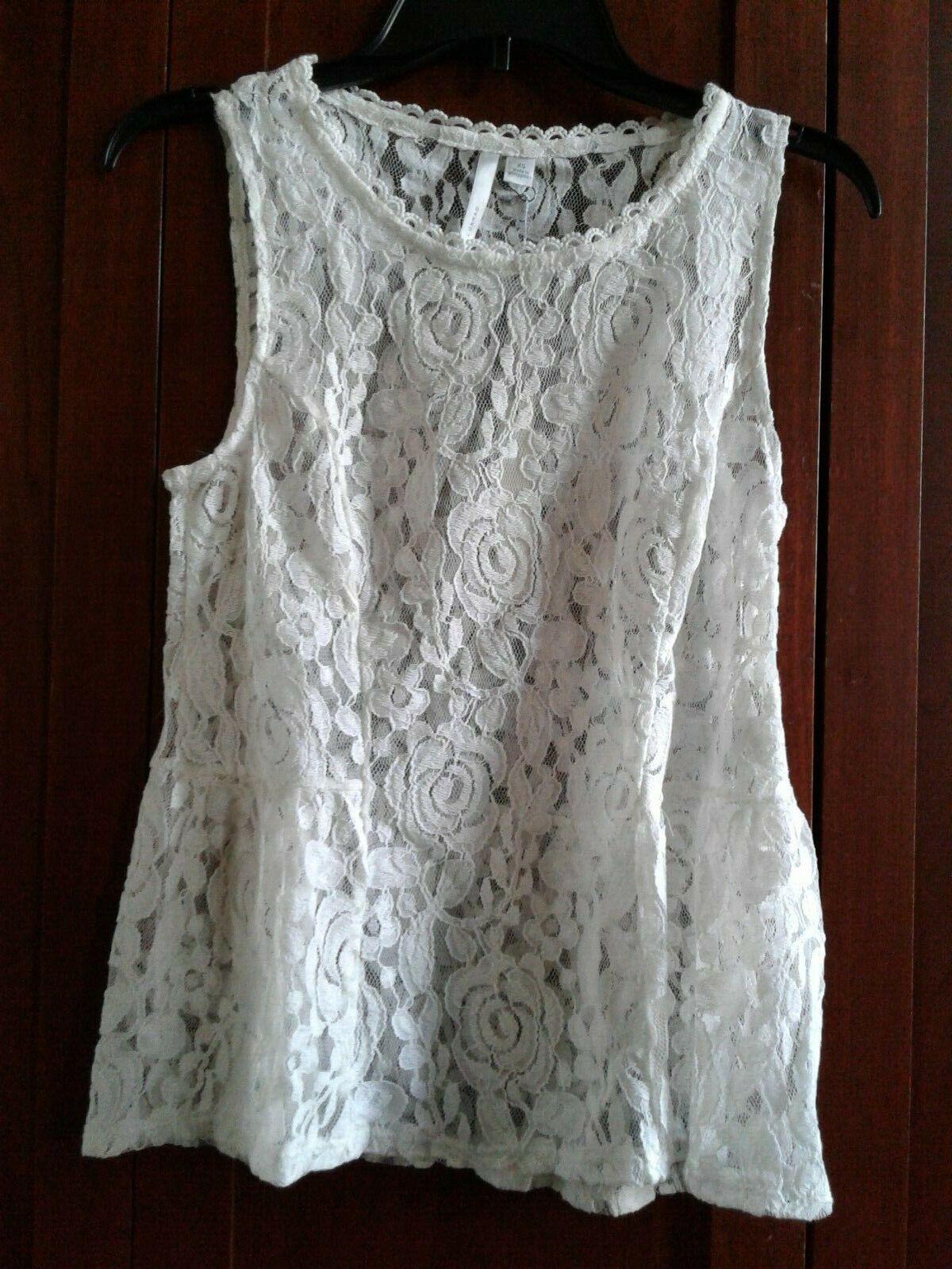 Lauren Conrad LC Lace sleeveless tank top blouse shirt baby