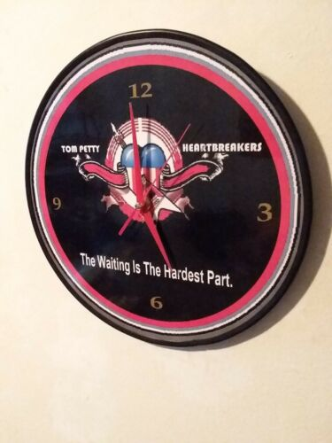 "TOM PETTY & THE HEARTBREAKERS-WAITING IS THE HARDEST PART 12"" QUARTZ WALL CLOCK"