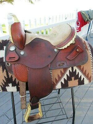 14'' BUFFALO SADDLERY western barrel saddle SQHB -