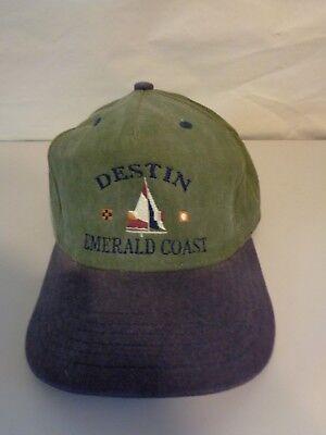 Destin FL Florida Emerald Coast Hat Cap by Ski Country Imports Sailing Sailboat