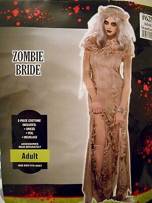 Zombie Bride Halloween Undead Corpse Costume Female Adult Gray ](Female Zombie Costumes)