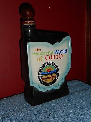 VINTAGE JIM BEAM DECANTER THE WONDERFUL WORLD OF OHIO REGAL CHINA PORCELAIN JUG