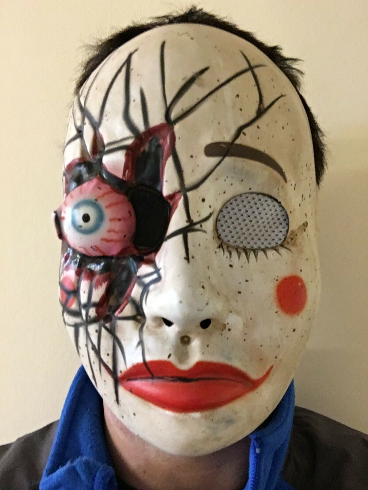 creepy scary broken doll mask halloween horror cracked china doll