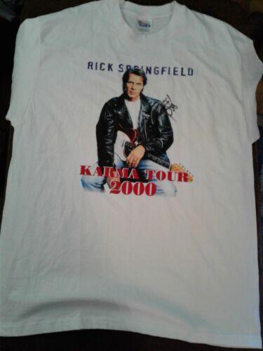 Rick Springfield  Karma Tour 2000 T-Shirt Autographed  Vintage XL