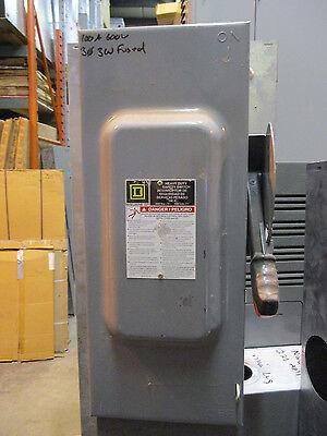 Square D H363 100 Amp 600 Volt Fusible 3 Phase Disconnect F Series