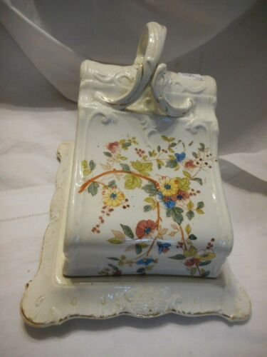 Antique Cheese Keeper Porcelain Ludwig Wessel Bonn Germany