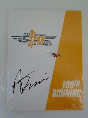 2016 Indianapolis 500 100th Running Alexander Rossi Signed Program