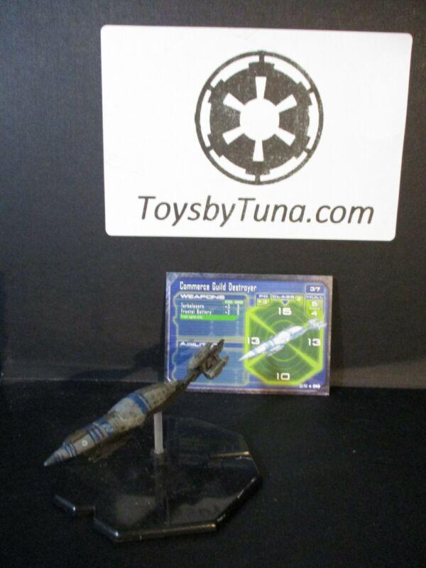 Star Wars Miniatures Starship Battles Commerce Guild Destroyer w/ Card mini RPG