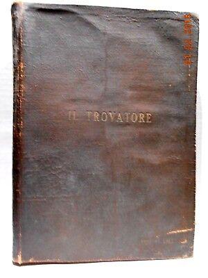 IL TROVATORE BY G VERDI RICORDI'S CHEAP EDITION ITALY