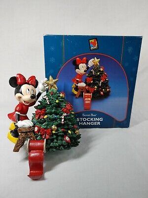 1998 Minnie Mouse Santa's Best Stocking Hanger Christmas Tree Light Use in Box
