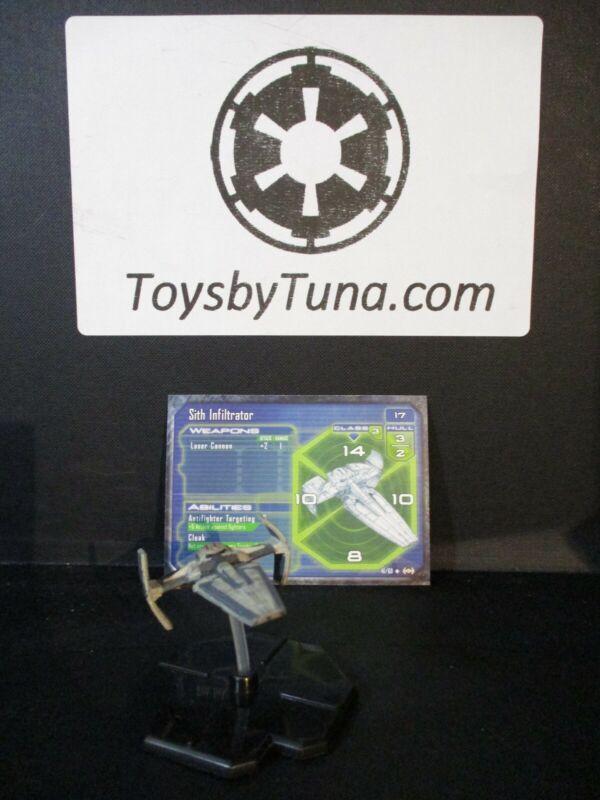 Star Wars Miniatures Starship Battles Sith Infiltrator Maul w/ Card mini RPG