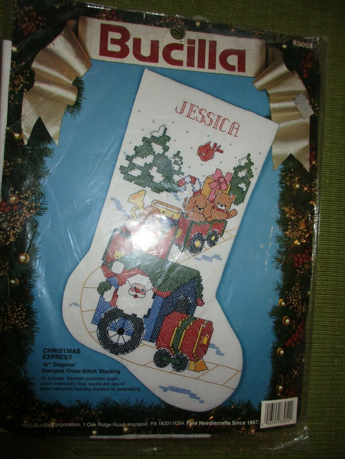 Bucilla Personalized Stocking 'Christmas Express' Stamped Cr